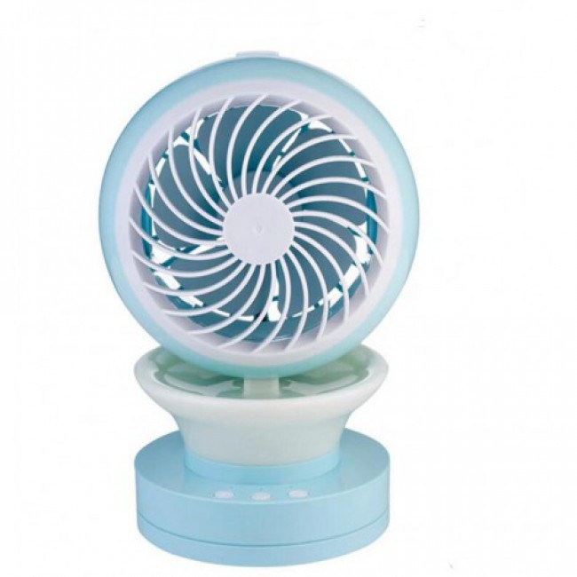 Water Mist Fan Rechargeable Misting Humidifier Fan With Night Light